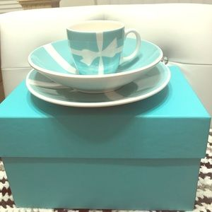 Tiffany Co Cup Bowl Plate Set / baby set